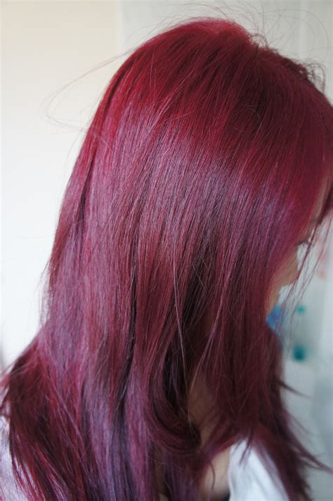 reddish purple hair color seeing at home diy hair colouring kaka
