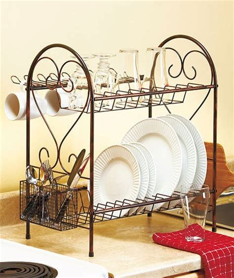 kitchen dish rack ideas bronze 2 tier deluxe metal dish drying rack space