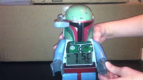 lego wars boba fett mini figure alarm clock