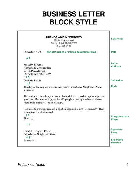 Block Style Business Cover Letter block format business letter crna cover letter