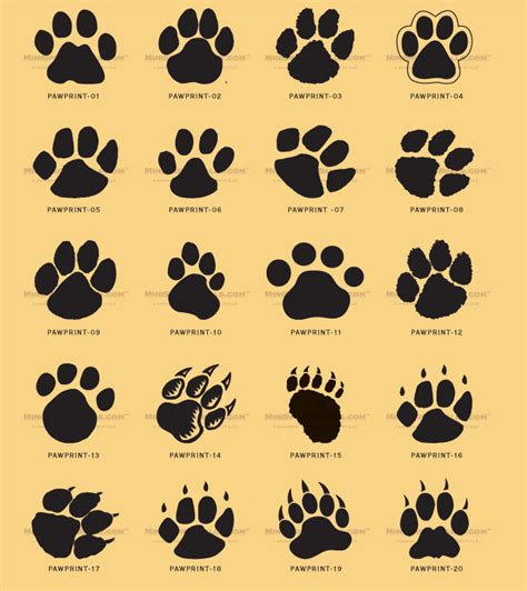 teachers kids and everybody paw print clip art can be used