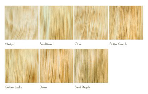 shades of blonde hair colour chart » dFemale   Beauty Tips
