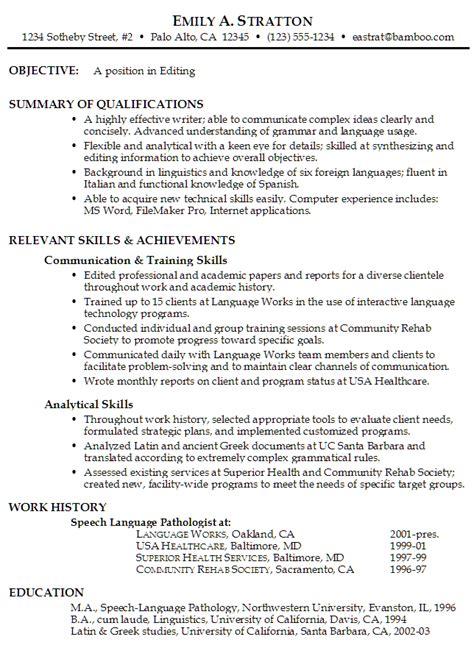 functional resume sle 2 resume