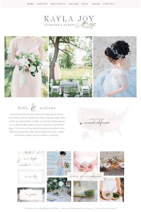 Wedding Planning Websites by Wix Website Template Wedding Planner Website Event