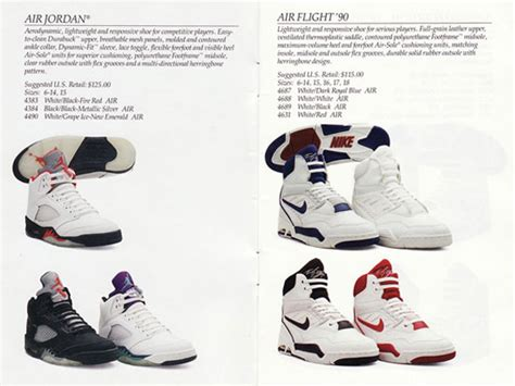 1990 nike basketball shoes nike basketball catalog from 1990 sneakernews