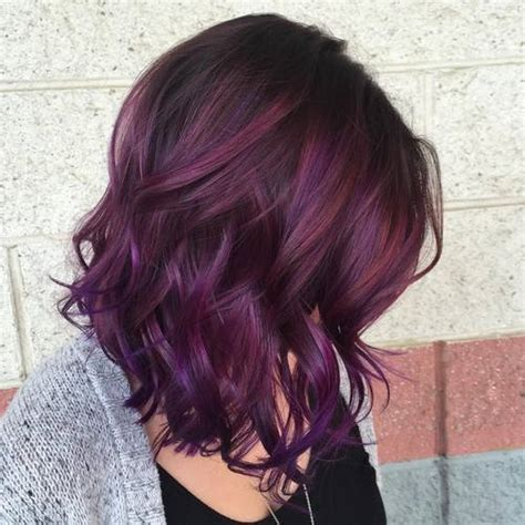 purple brown hair color 40 versatile ideas of purple highlights for brown