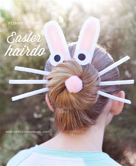 easter time avarde look hairstles funny bunny easter hairdo