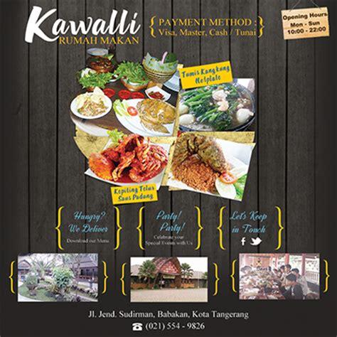 desain brosur warung makan desain brosur rumah makan file psd banten art design