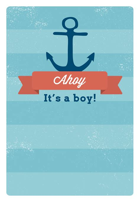 Ahoy Its A Boy Baby Shower Invitations by Free Printable Baby Shower Invitation Ahoy It S A Boy