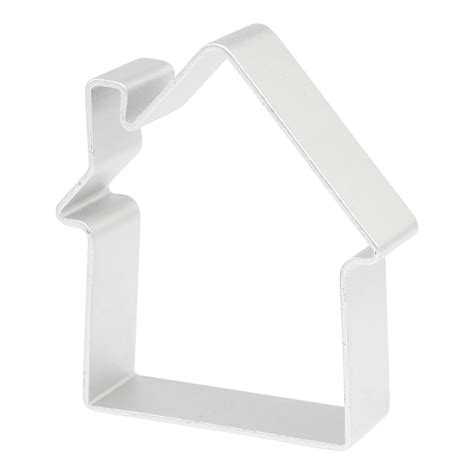house shaped cookie cutter xmas home diy cookie baking house shape aluminum alloy cutter mold fk ebay
