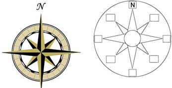 Printable Compass Template by Compass Template Clipart Best
