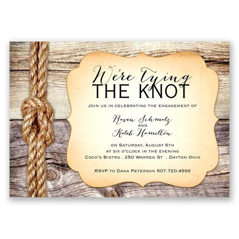Wedding Knot by Tying The Knot Engagement Invitation Invitations
