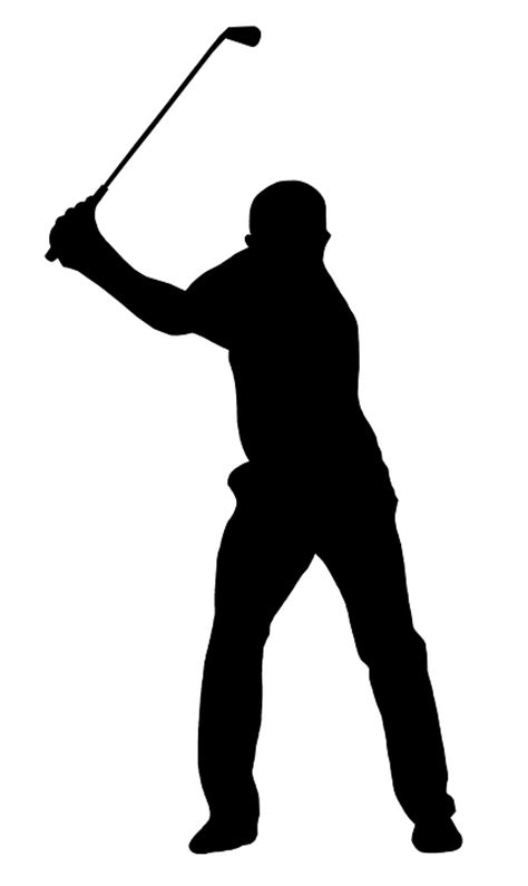 golf swing silhouette free illustration golf golf swing golfer free image
