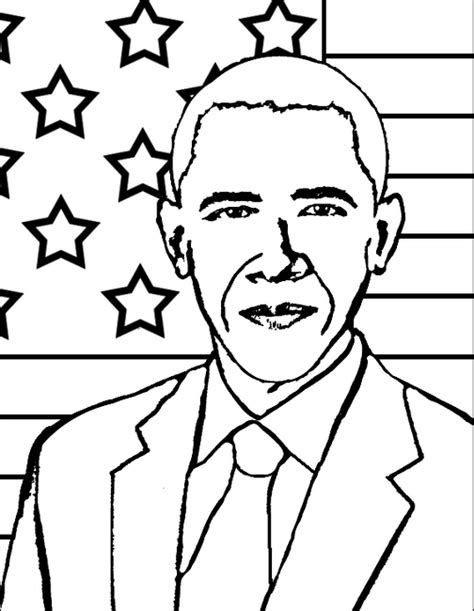 printable coloring pages us presidents printable president obama coloringpagebook