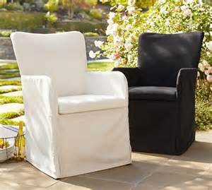 Outdoor Slipcovers Patio Furniture Slipcovered Indoor Outdoor Dining Chair Pottery Barn Outdoors End Of Chairs