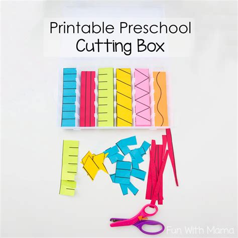 pattern games for 3 year olds printable preschool cutting busy box fun with mama