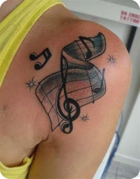 music note tattoo on shoulder 35 musical note tattoo designs on shoulder