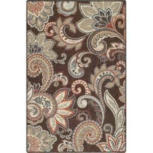 brown paisley rug better homes and gardens brown paisley berber printed area