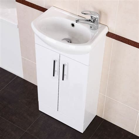 Kitchen Sink Vanity Unit by White Small Compact Basin Vanity Unit Bathroom Cloakroom