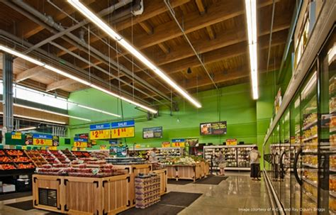 lighting stores tx grocery store led lighting study h e b cree