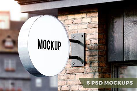 25 Psd Mockups Business Collection Mooxidesign Com Sign Mockup Template