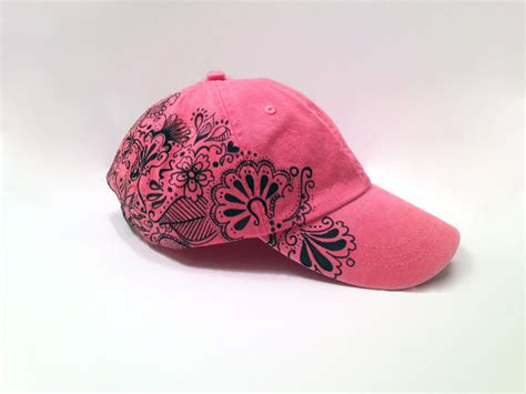 womens hat coral hat womens trendy hat baseball cap womens