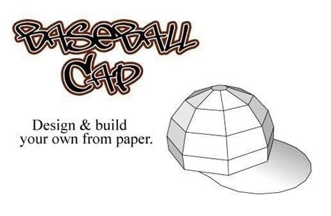 How To Make A Baseball Cap Out Of Paper - 2 5 quot paper baseball caps 183 a paper model 183 papercraft on