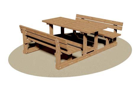 panca tavolo giochipark tavolo con panche in legno relax giochi per