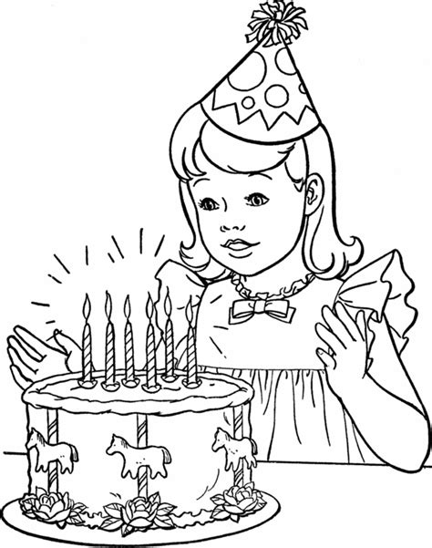 free coloring pages birthday party free printable happy birthday coloring pages for kids