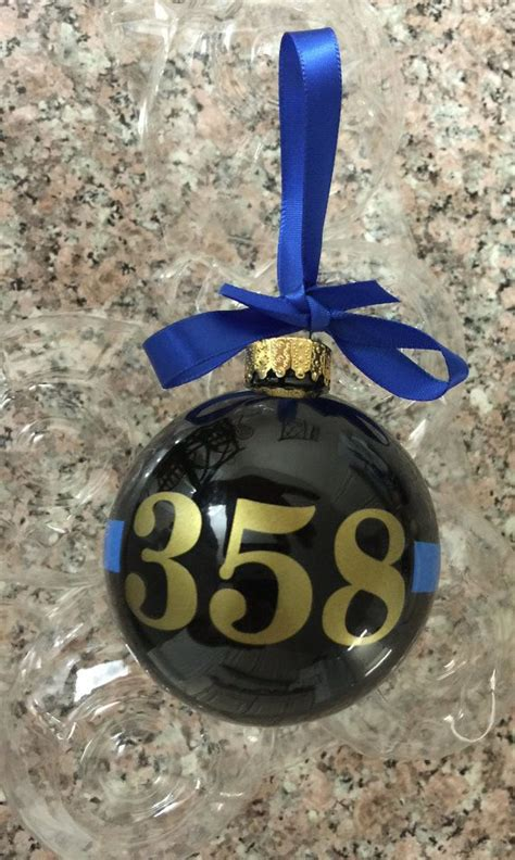 thin blue  christmas ornament police support police gift leo gift law enforcement