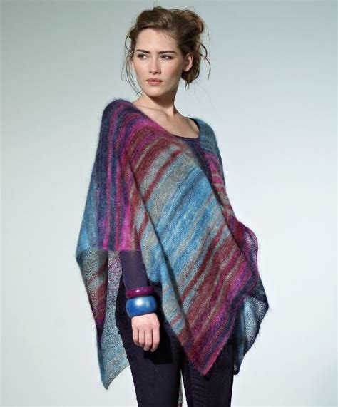 how to knit a poncho for beginners pattern tranquil dusk poncho allfreeknitting