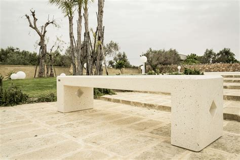 panchina cemento produzione panchina in cemento monoblocco