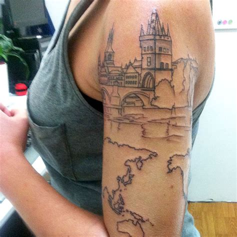 carry on tattoo 38 more travel related tattoos from backpackers
