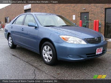 Home Interior Shows by Catalina Blue Metallic 2003 Toyota Camry Le Taupe