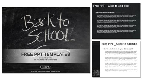 Back To School Powerpoint Templates Back To School Template Free
