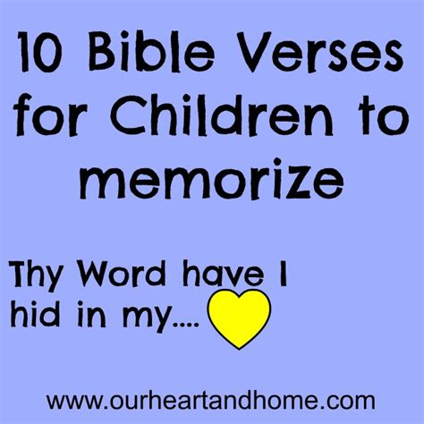 memory verses for children our and homeour