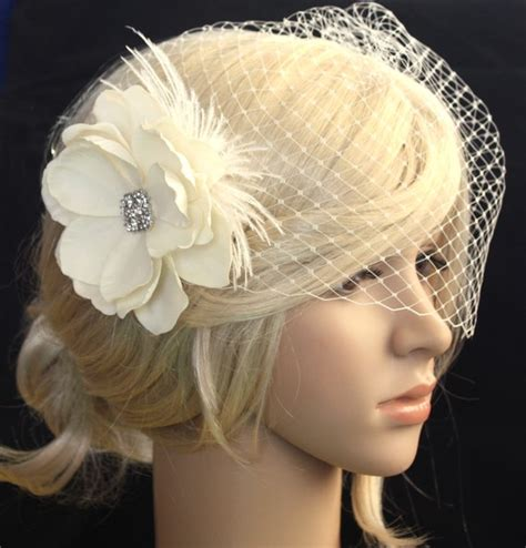 Vintage Wedding Hair Veils by Vintage Inspired Birdcage Veil And Detachable Bridal
