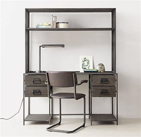Metal Computer Desk With Hutch Metal Computer Desk With Hutch Brushed Grey Storage Desk And Hutch Set Computer Desks Best Buy
