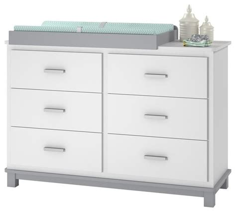 Grey Dresser Changing Table Ameriwood Cosco Leni 6 Drawer Dresser Changing Table White And Gray Changing Tables By