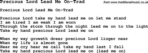 skiffle lyrics for precious lord lead me on trad