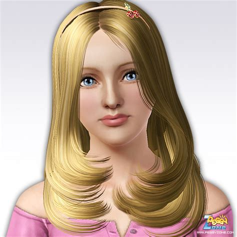 sims 3 hairstyles just below chin hairstyle with hadband id 07 by peggy zone