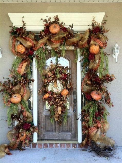 front door decor ideas get into the seasonal spirit 15 fall front door d 233 cor ideas