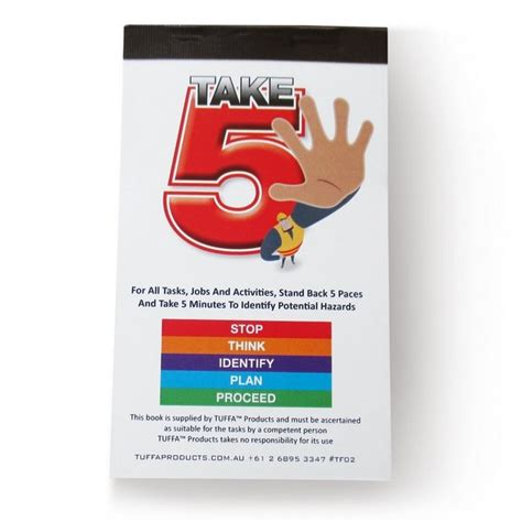 take 5 safety books improve site safety tuffa products