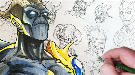 draw with jazza creating characters and easy guide to drawing and comics drawing a cybernetic character design session