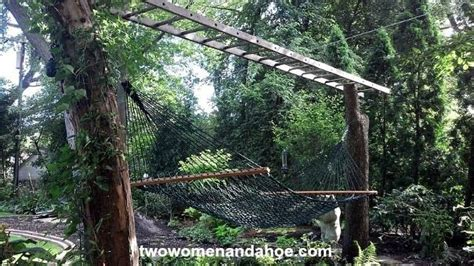 backyard creations hammock 1 upcycled ladder 2 tree trunks very cool hammock