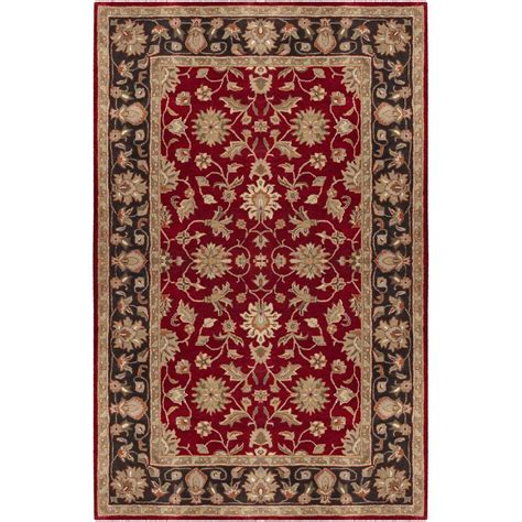 burgundy rug artistic weavers valorie burgundy 4 ft x 6 ft area rug val 6013 the home depot