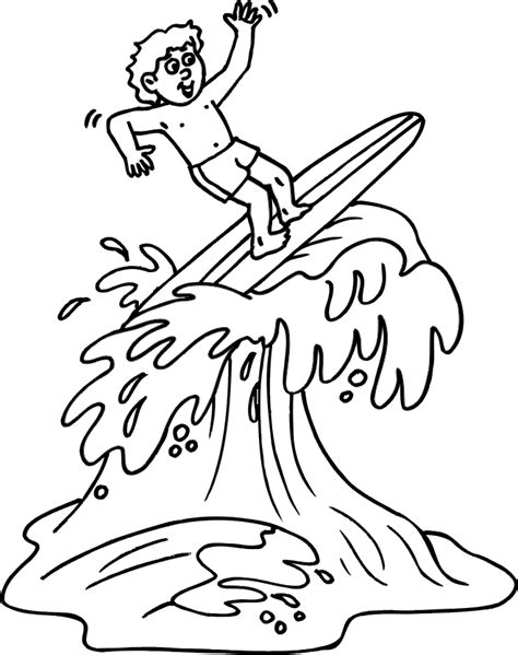 surfboard coloring page coloring home