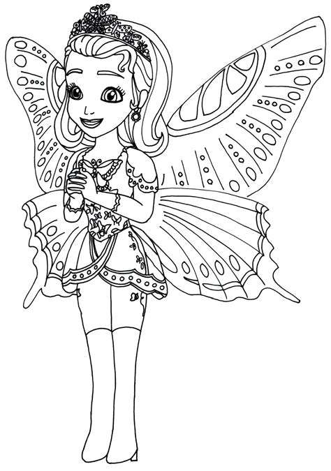 Sofia The First Coloring Pages Princess Butterfly Sofia Princess Sofia Drawing Free Coloring Sheets
