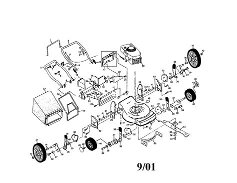 craftsman  hp   rear discharge rotary lawn mower