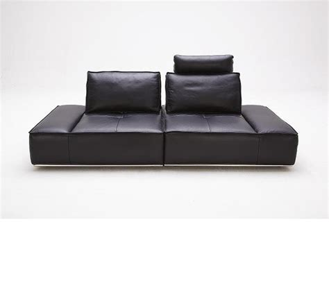 Divani Leather Sofa Dreamfurniture Divani Casa Orchid Contemporary Leather Sofa